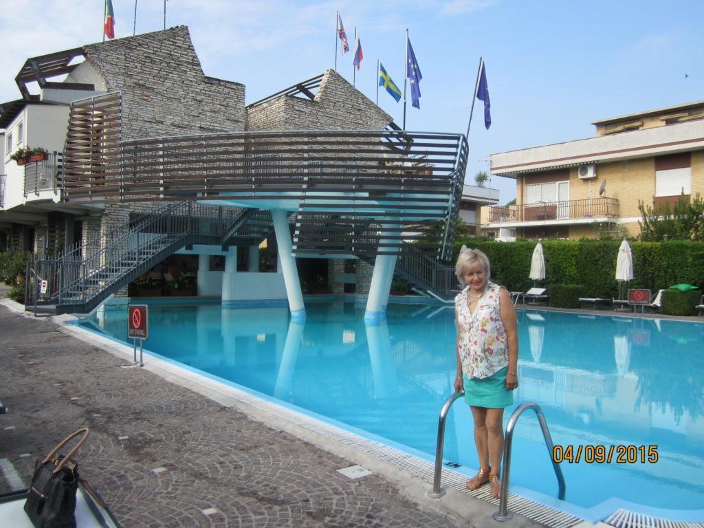 Ресторан и бассейн отеля Посейдон