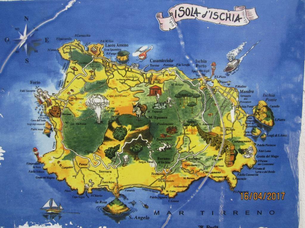 Карта о. Искья
