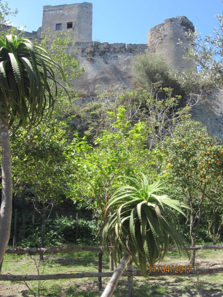 Арагонский замок. Сад на верху.