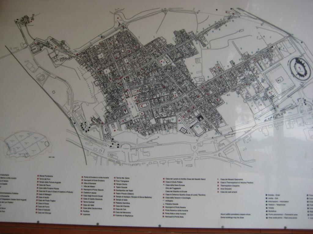Карта. Помпеи (Pompei).