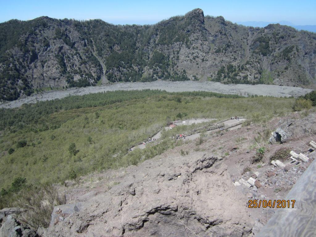 Вид с вулкана Везувий.