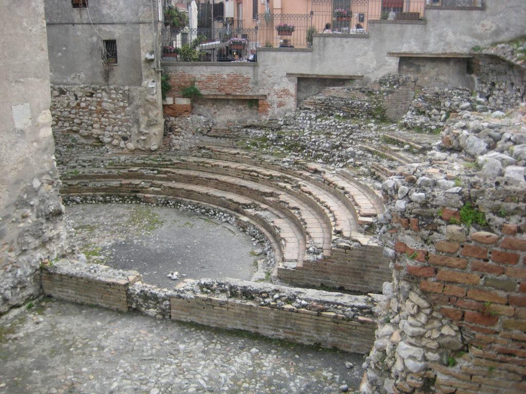 Таормина. Древнеримский Одеон (Teatro Odeon)