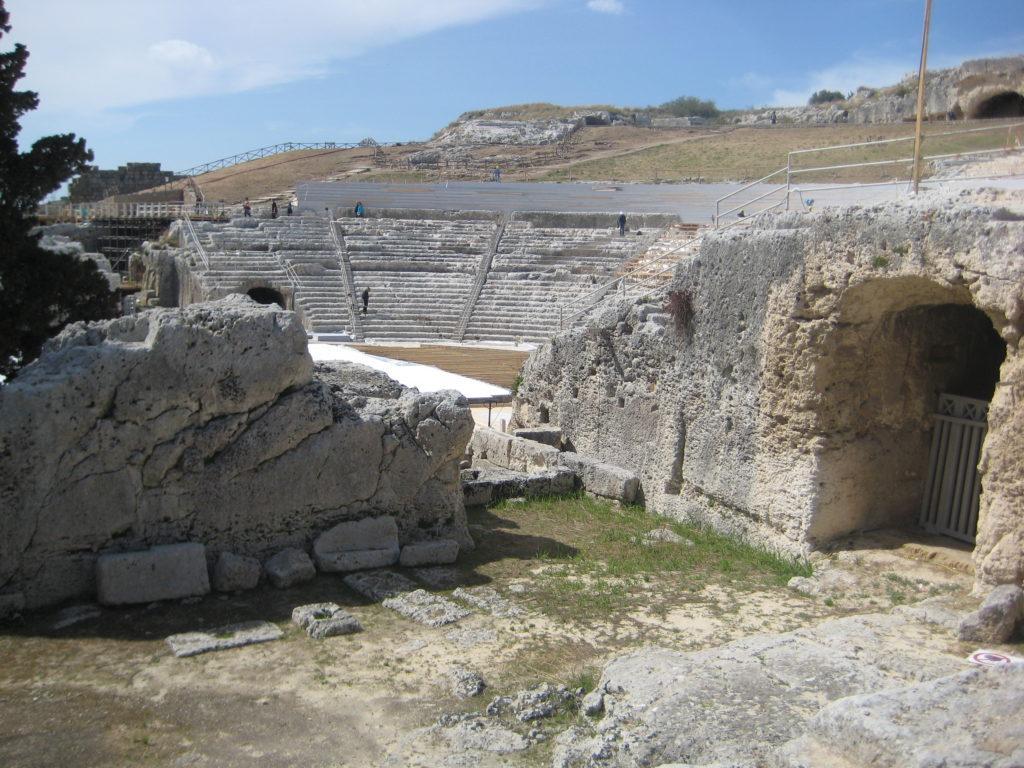 Археологический парк Сиракузы. Древнегреческий театр.