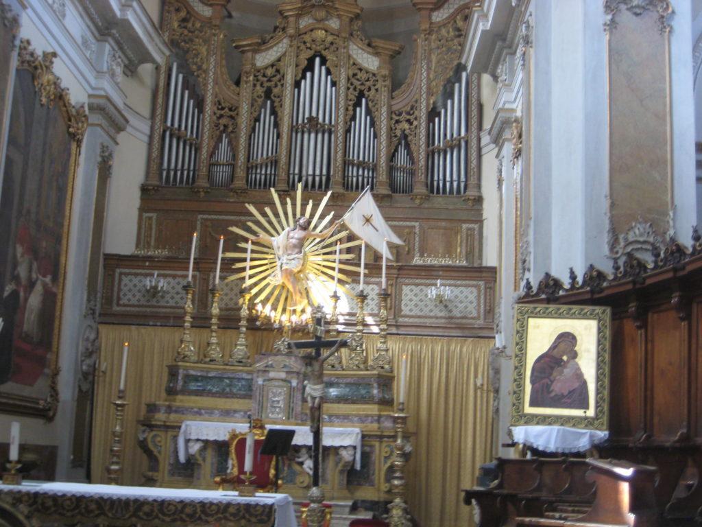 Катания. Basilica Collegiata. Византийская икона Мадонна Милосердия