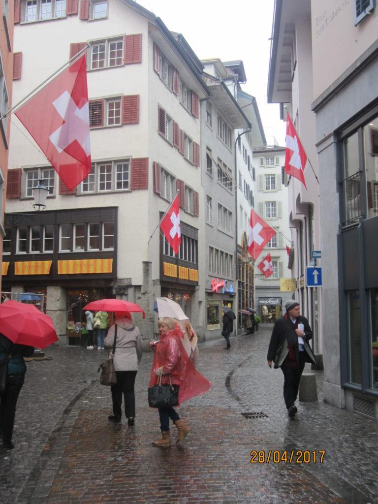 Цюрих.По улицам центра города.