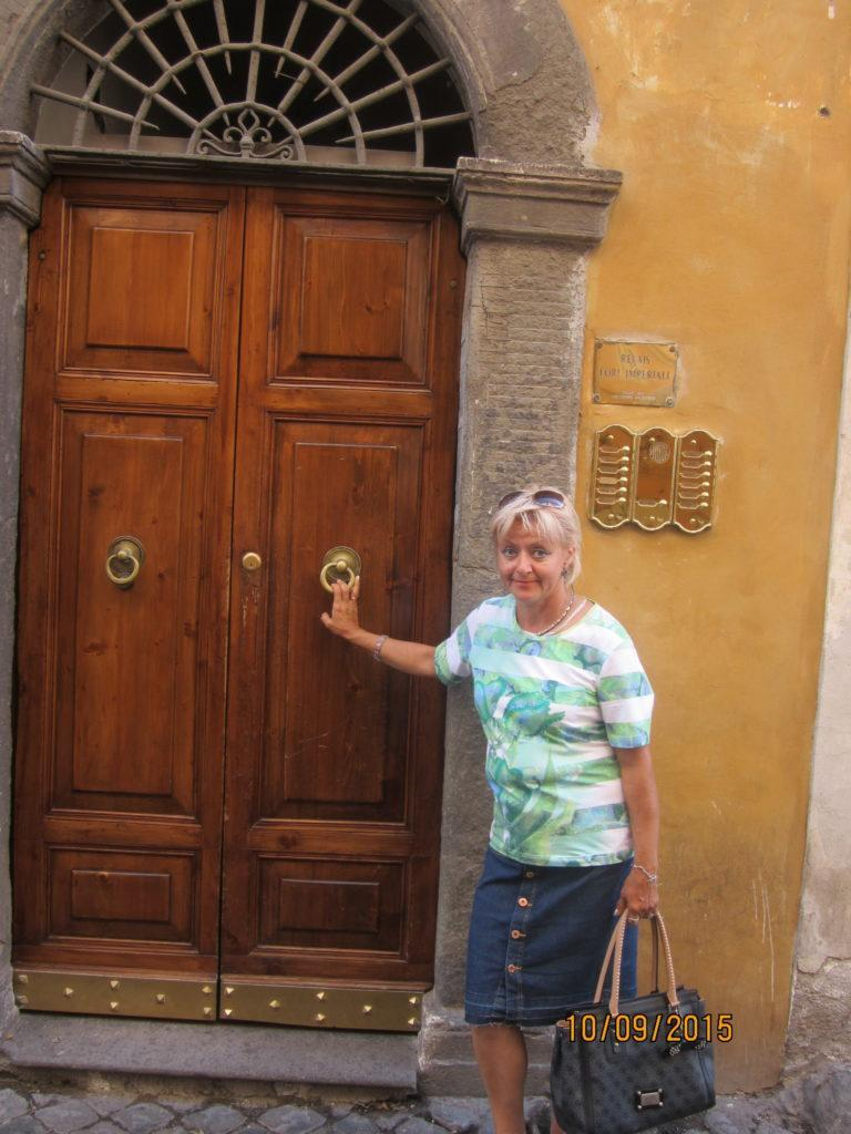 Вход в гостевой дом Relais Fori Imperiali