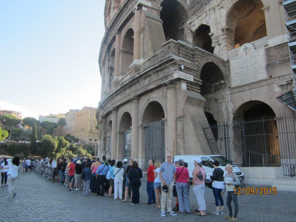 Очередь в кассы Колизея