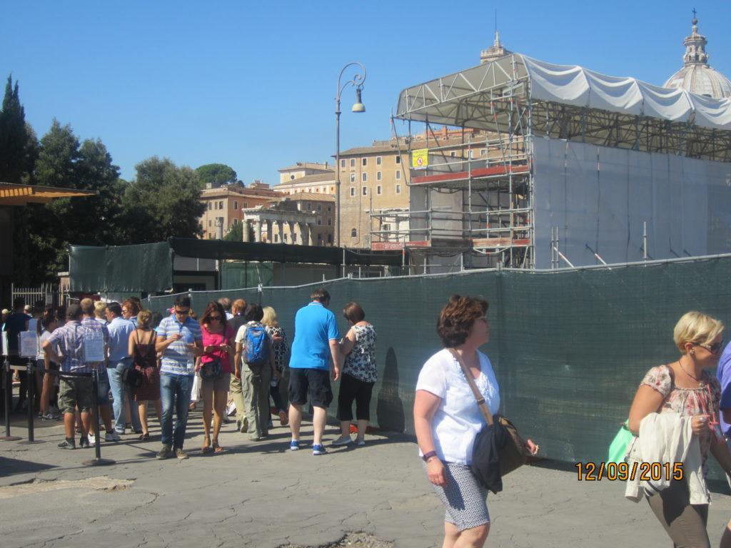 Кассы билетов на Римский форум и Колизей