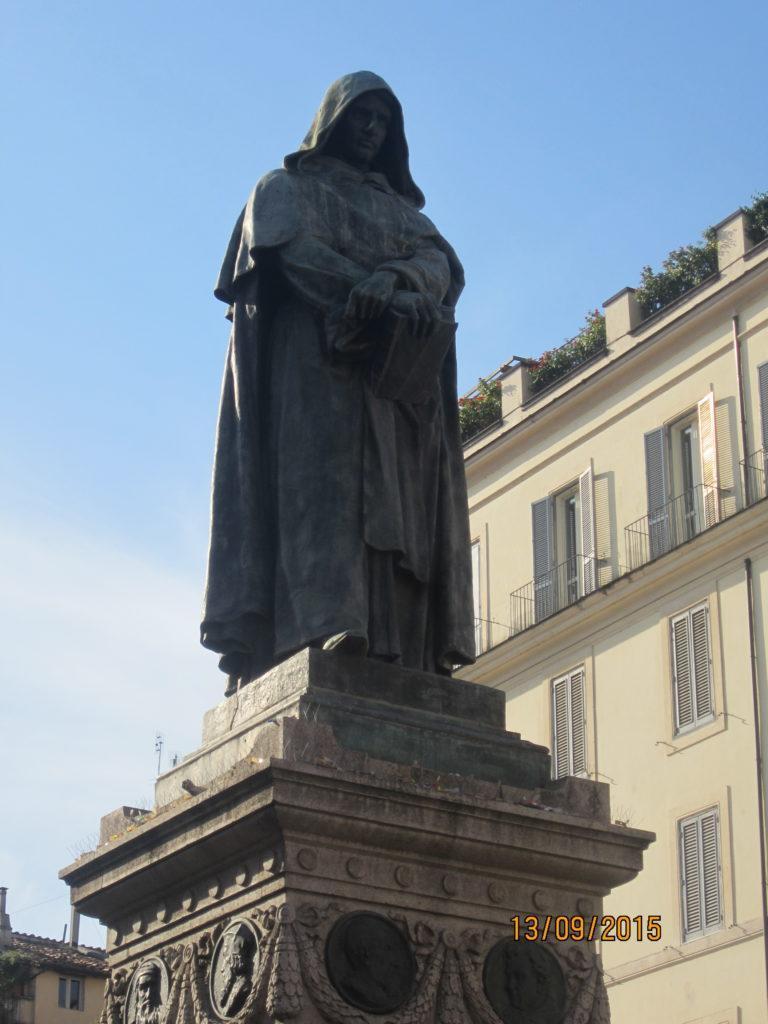 Площадь Кампо деи Фиори. Памятник Джордано Бруно, Рим
