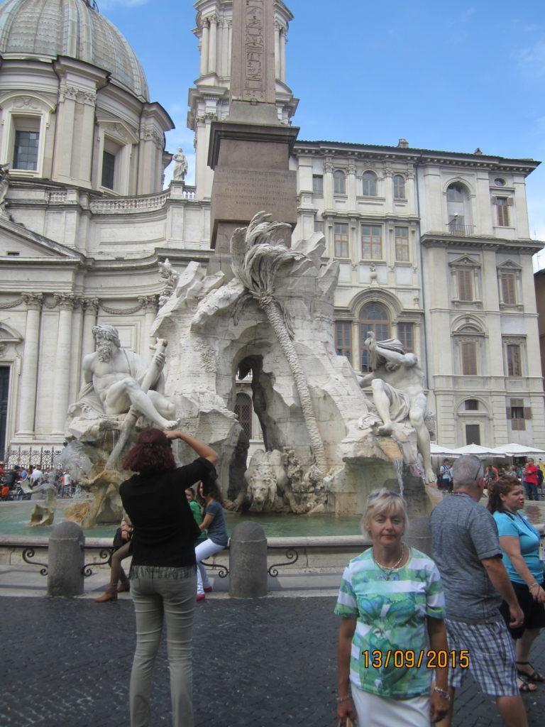 Piazza Navona. Фонтан четырёх рек. Рим