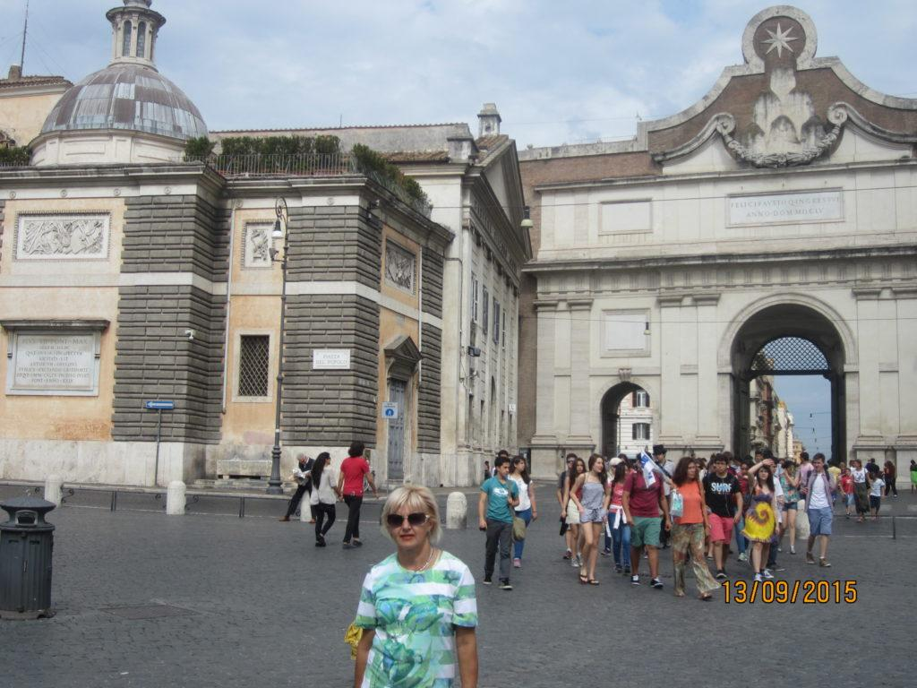 Пьяцца-дель-Пополо. Ворота — Порта-дель-Пополо.