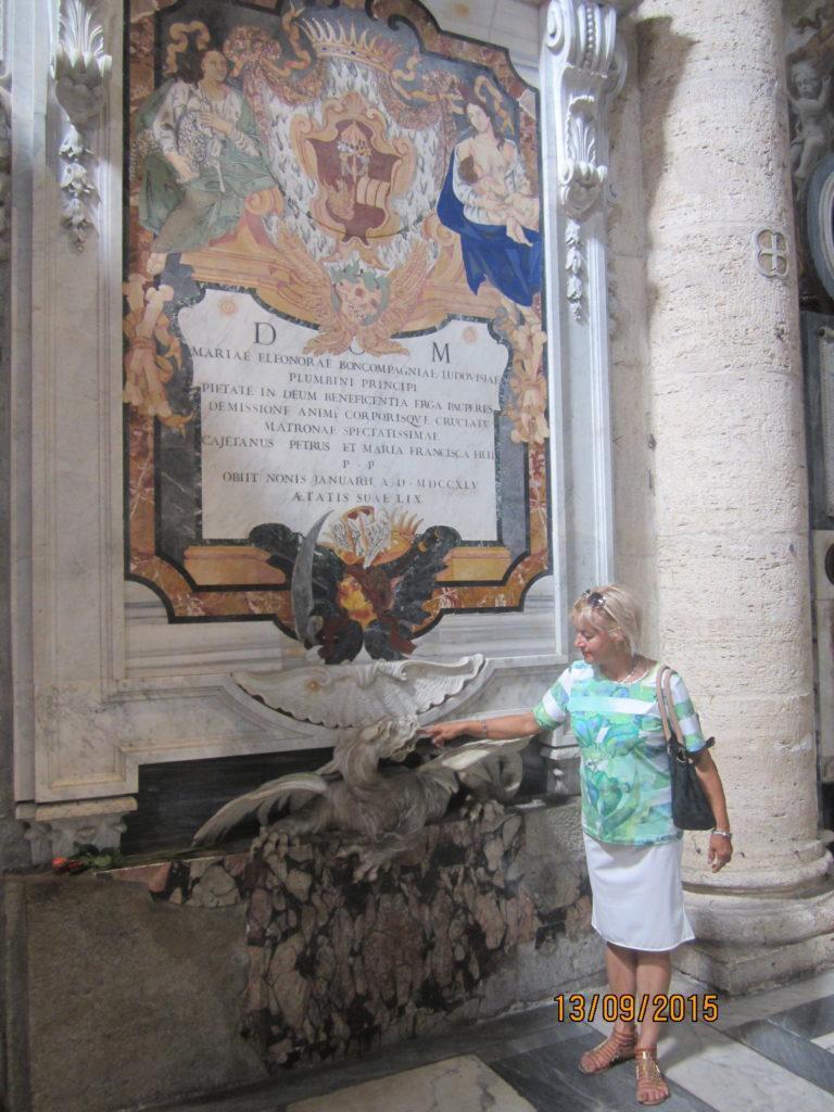 Пьяцца-дель-Пополо. Церковь Санта-Мария дель Пополо.