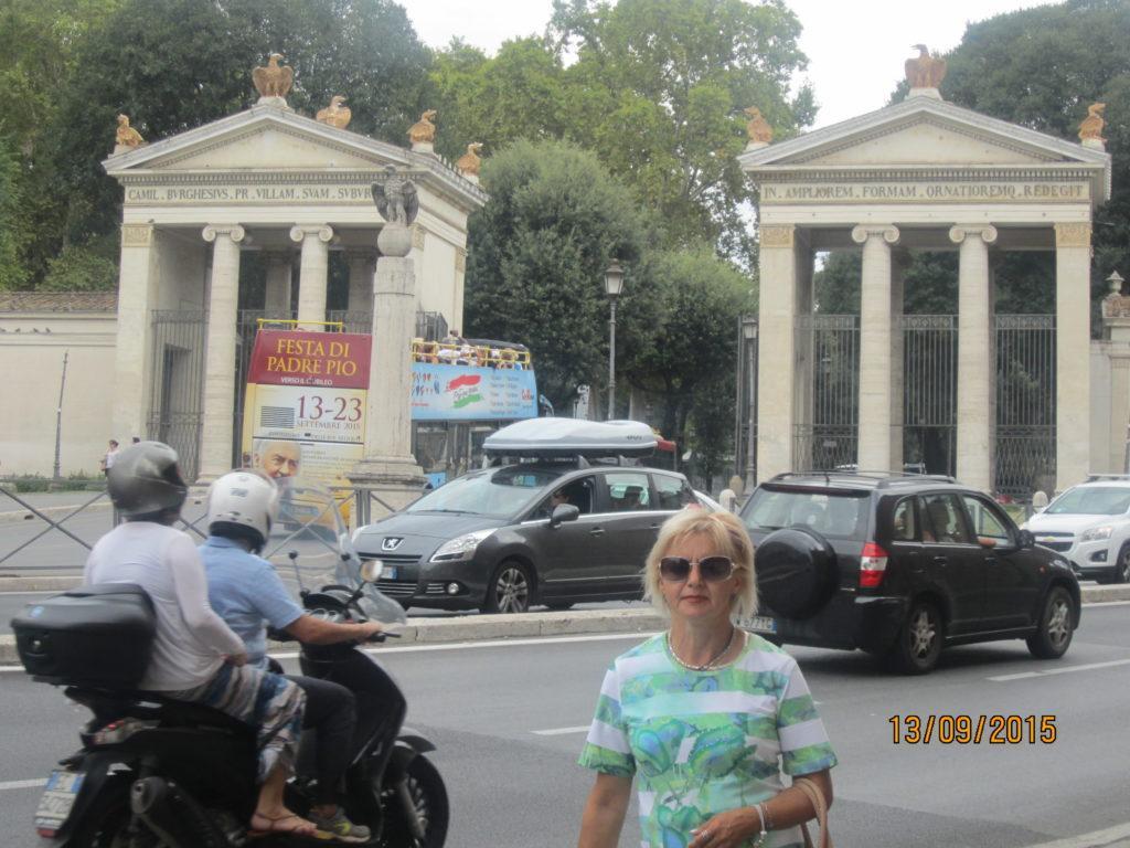 Ворота виллы Боргезе. Рим