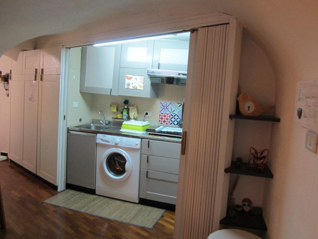 Кухня в апартаментах la casa accanto al Duomo.