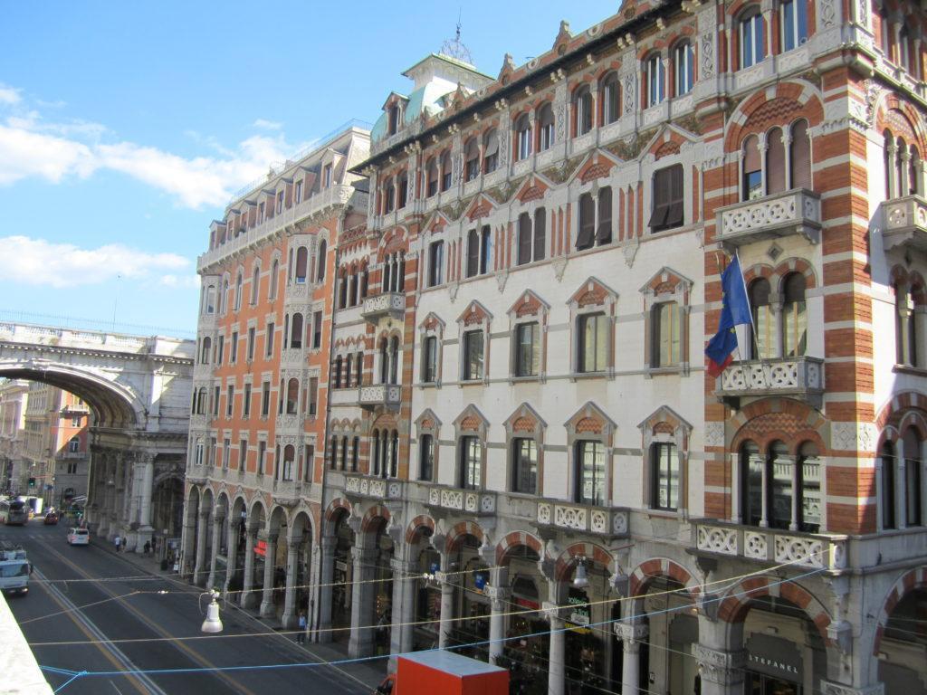 Архитектура ул. XX Сентября. Генуя.