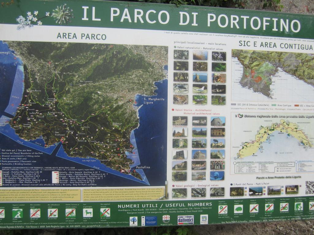 Карта парка Marina di Portofino.