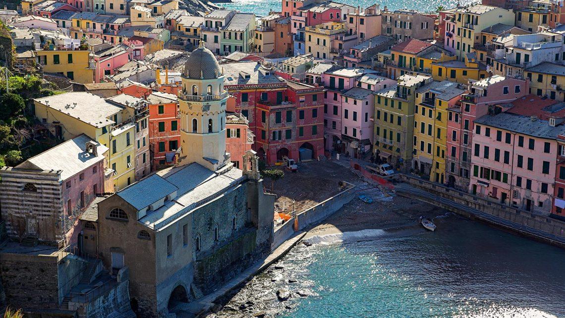 В национальный парк Чинкве Терре (Cinque Terre). Лигурия.