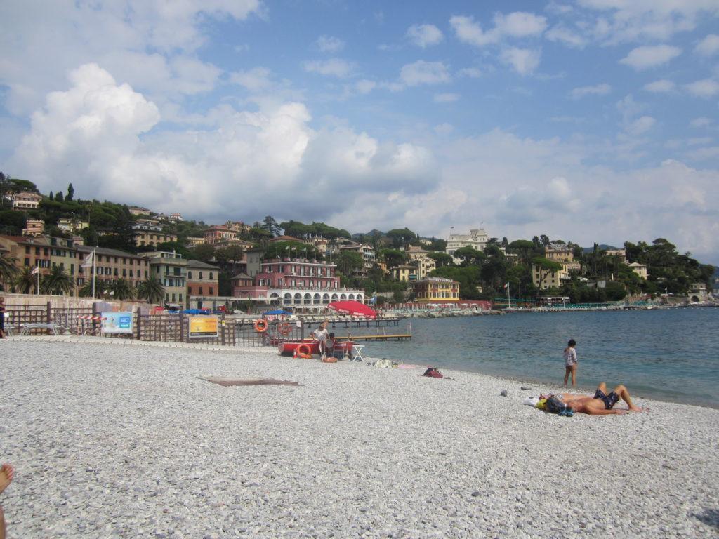 В Санта Маргерита Лигуре (Santa Margherita Ligure). Пляж
