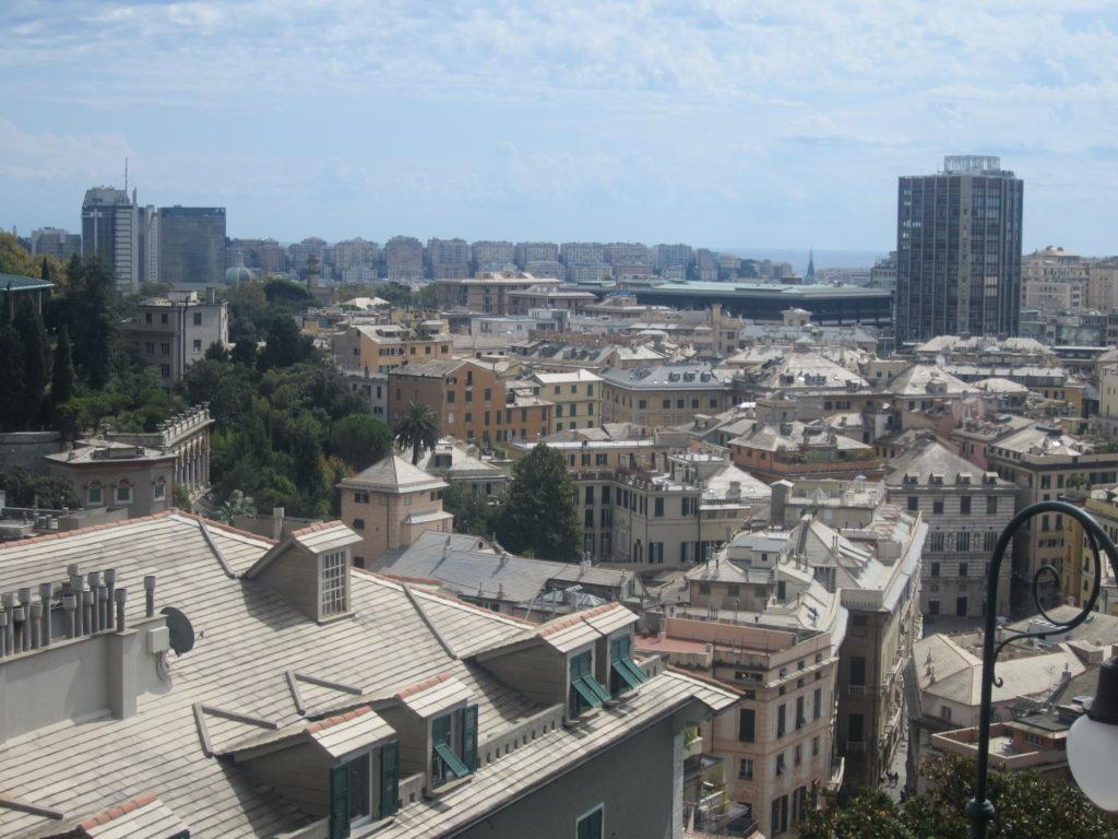 Вид на Геную с площадки Portello – Castelletto