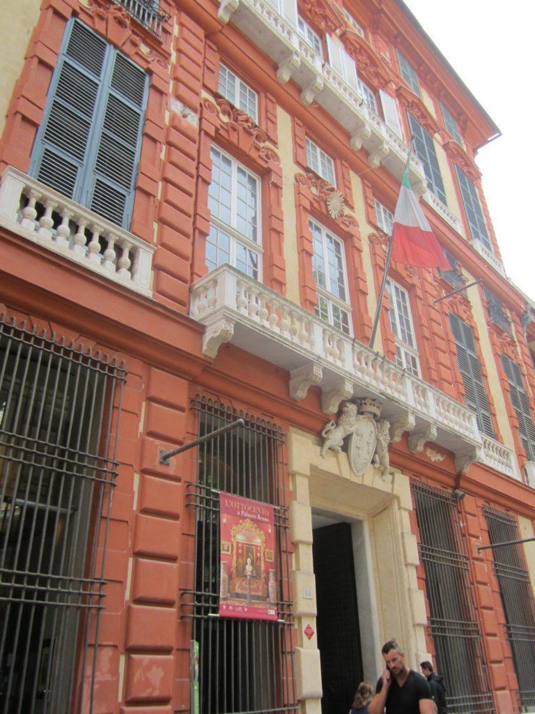 Знаменитая Via Garibaldi. Palazzo Rosso. Генуя