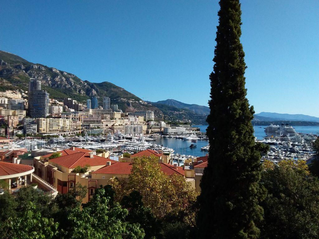 Вид на порт Монако