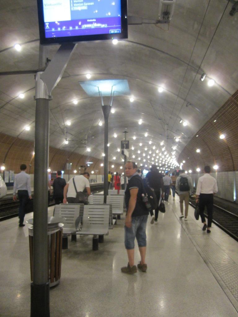 Железнодорожная станция в Монако