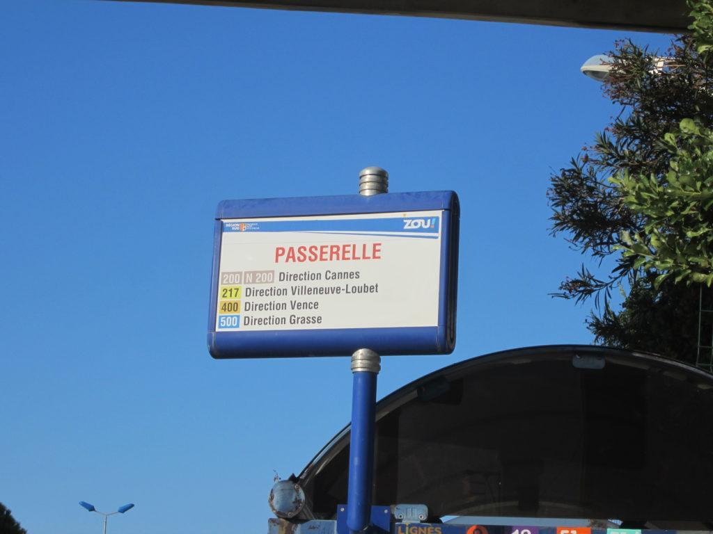 Остановка автобуса из Ниццы в Канны