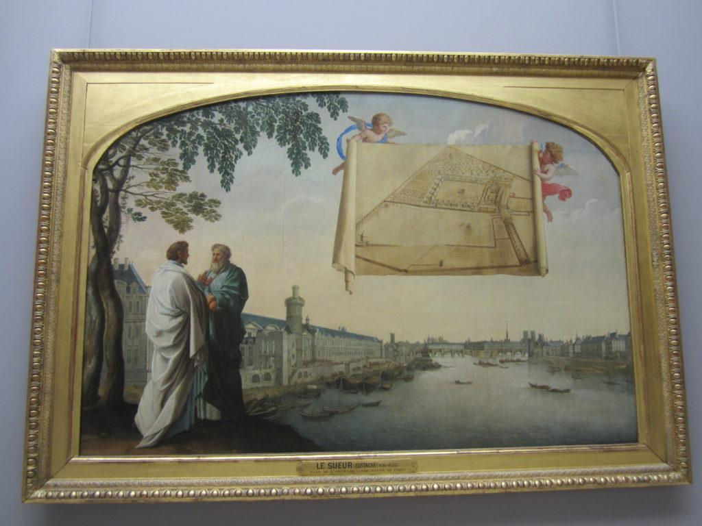 Необычная картина, в Лувре. Париж