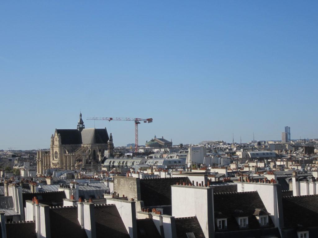 Вид на Париж из Центра Помпиду