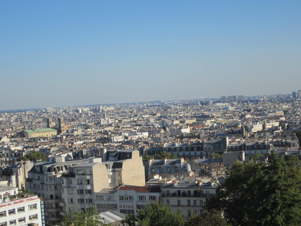 Париж с площадки у базилики