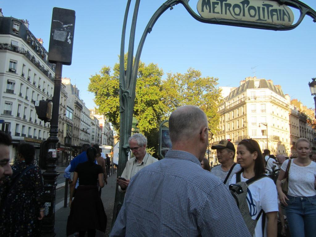 Париж. Метро станция «Anvers»