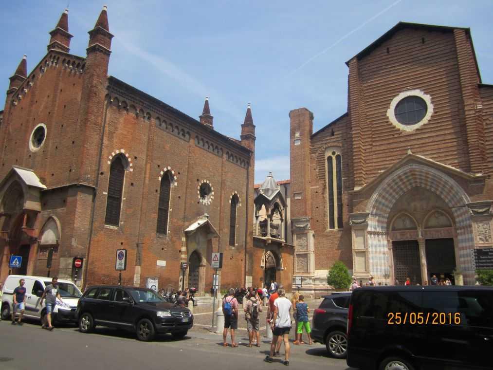 Верона. Италия. Церковь Санта Анастасия (Sant'Anastasia)