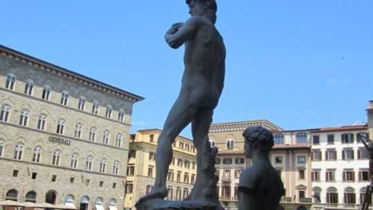 Флоренция, площадь Синьории. Лоджия Ланци.