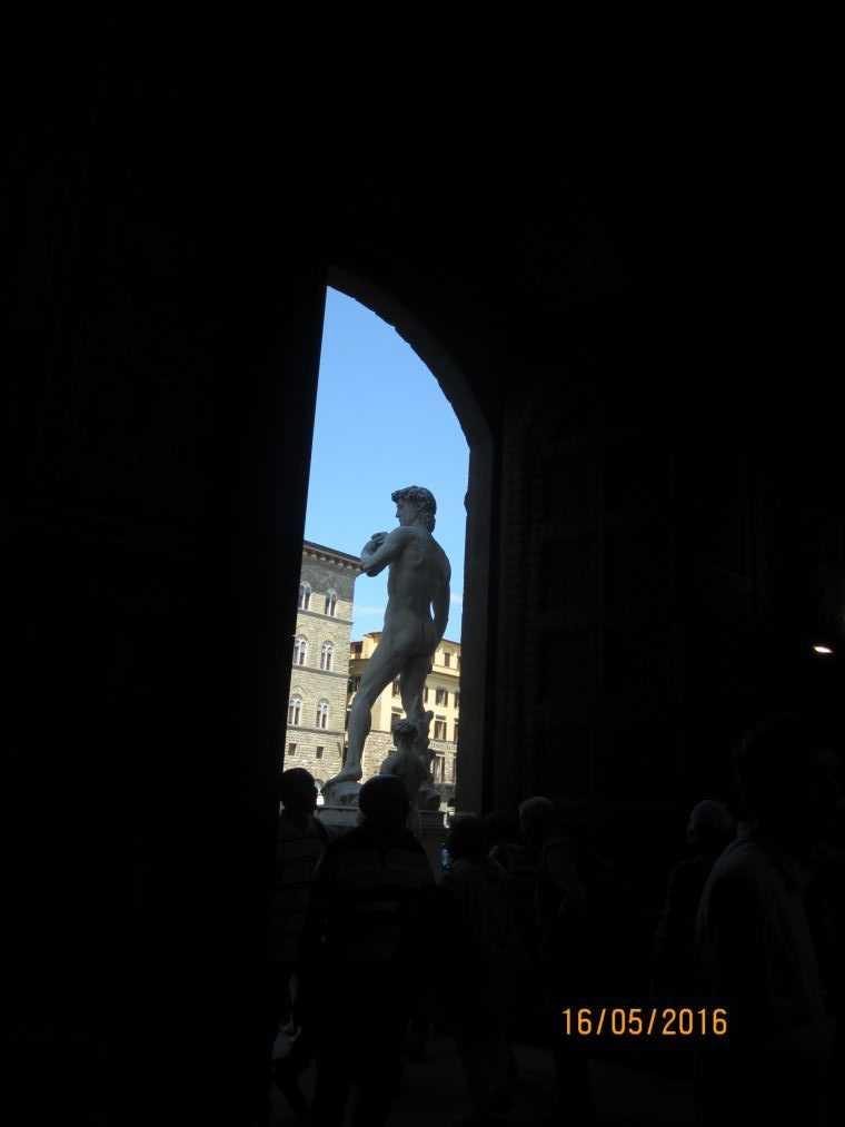 Флоренция. Статуя Давида на площади Синьории