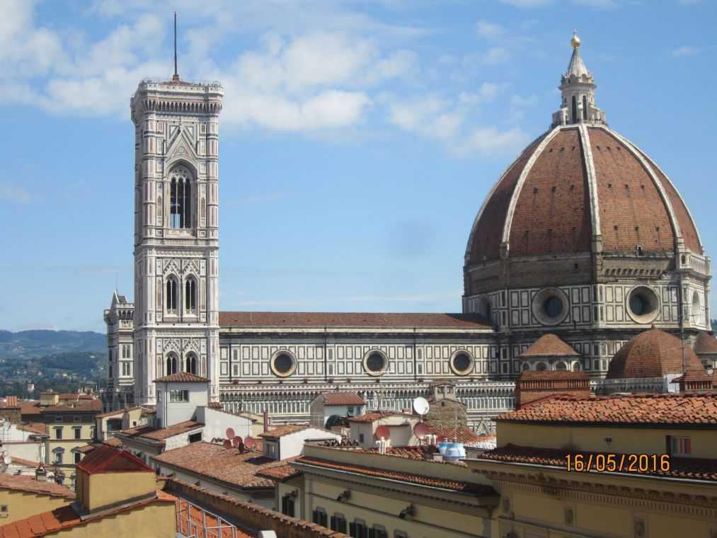 Купол флорентийского Дуомо и кампанила Джотто