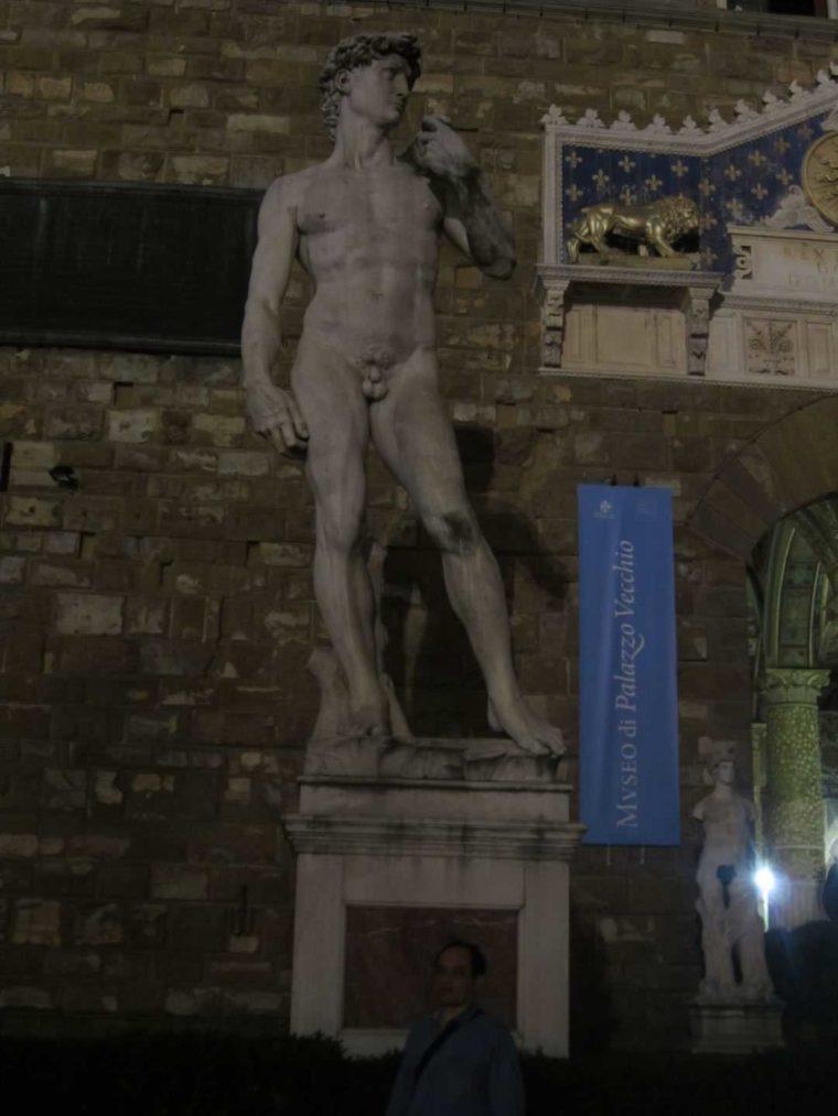 Флоренция. Площадь Синьории. Статуя Давида