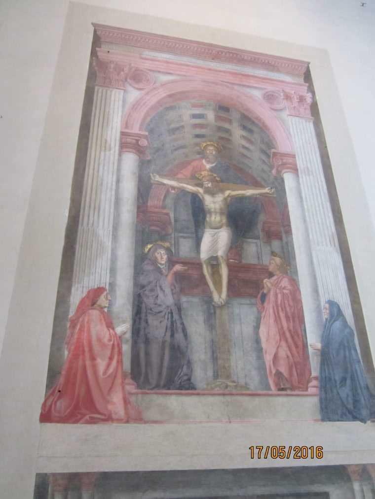 """В церкви Санта-Мария-Новелла. Фреска """"Троица"""""""