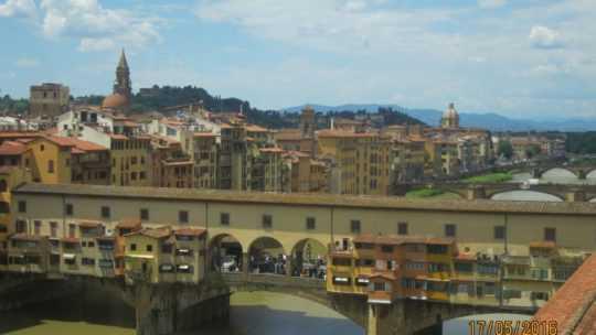 «Золотой мост»— Понте-Веккьо и площадь Микеланджело.