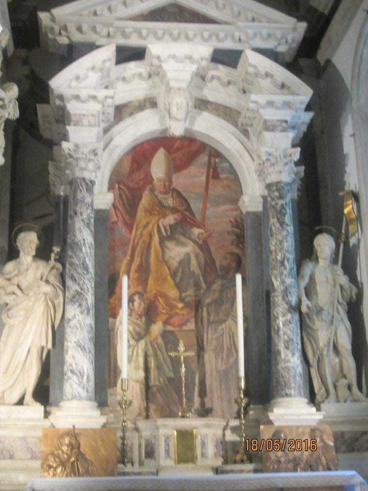 """Алтарный образ """"Святой Амвросий"""". Альвизе Виварини"""