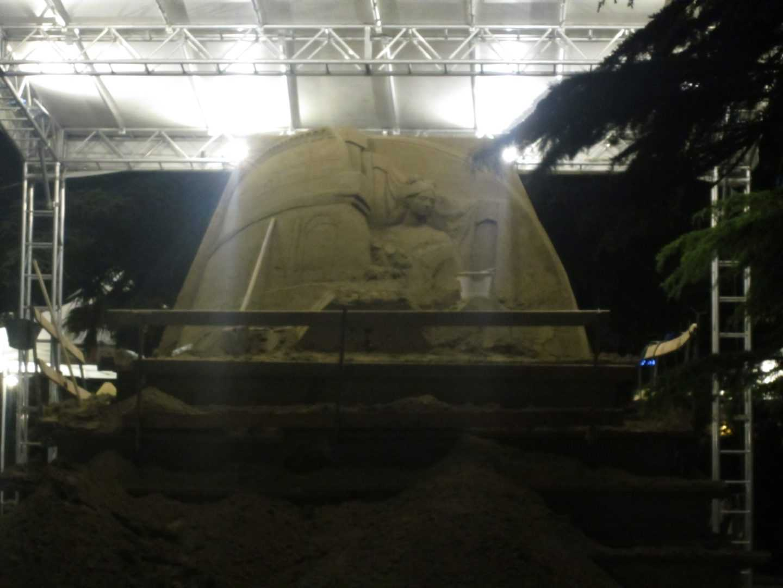Скульптура из песка в Лидо ди Езоло