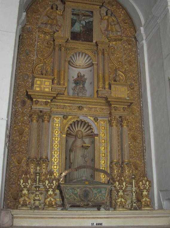 Собор Св. Екатерины (Гоа). Алтарь Святой Анны