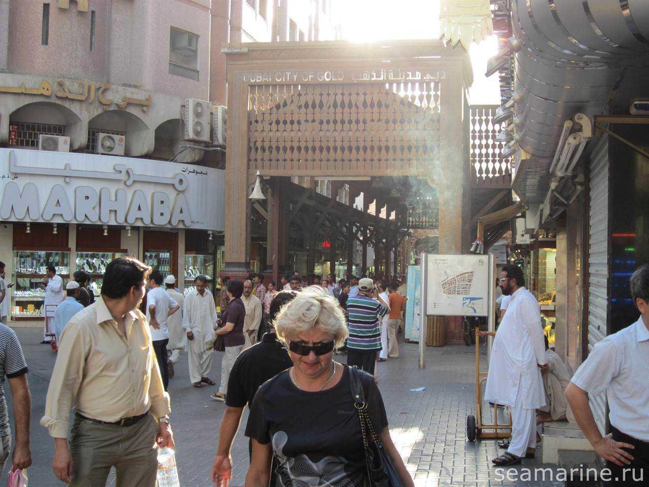 Вход на Dubai Gold Souk