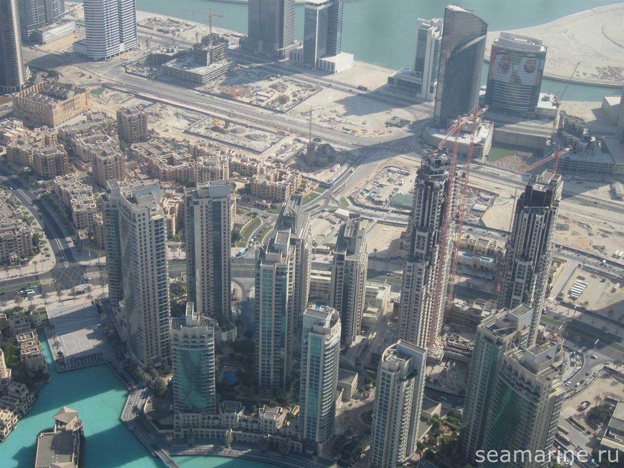 Вид на Дубай с Бурдж Халифа