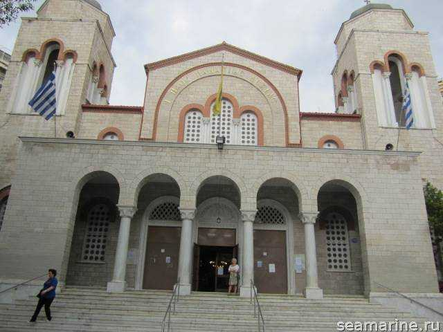 Самостоятельно в Салоники. Church of Panagia Dexia