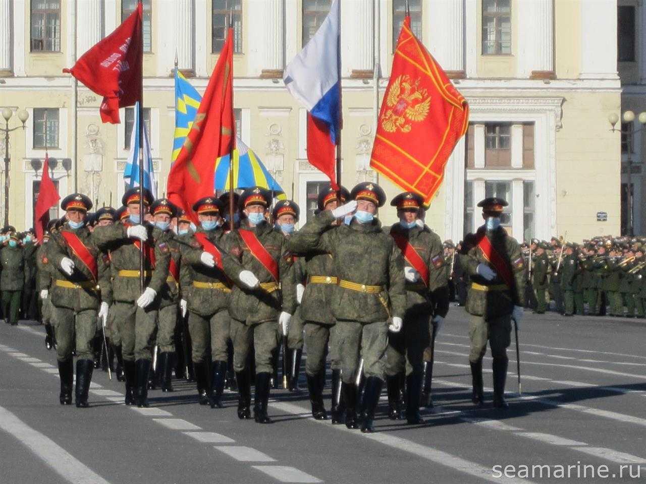 Дворцовая площадь. Подготовка к параду 9-мая