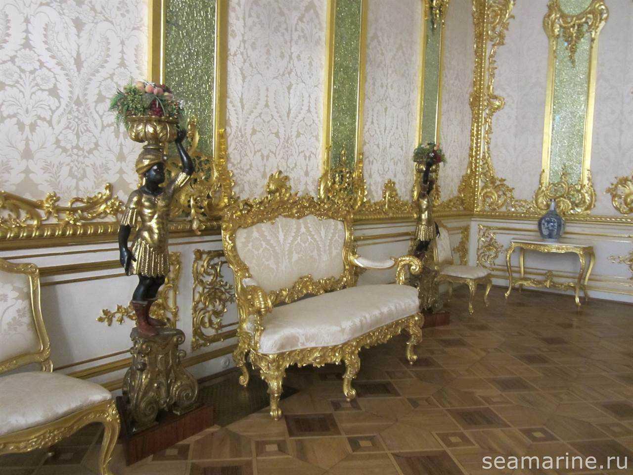 Екатерининский дворец. Зелёный Столбовой зал